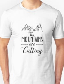 The mountains Are Calling Climbing Hiker Trail Camp T-Shirt