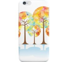 colorful abstract tree iPhone Case/Skin