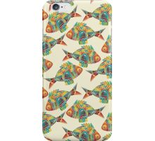 Colorful Modern Abstract Geometric Fish Pattern iPhone Case/Skin
