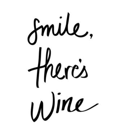 Smile, There's Wine Sticker