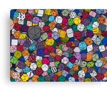 Gamer Dice Canvas Print