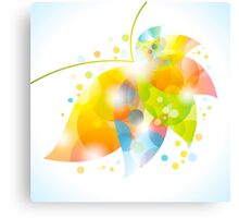 colorful abstract flower leaf Canvas Print
