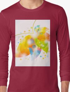 colorful abstract flower leaf Long Sleeve T-Shirt