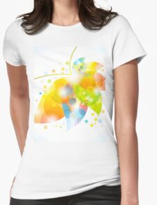 colorful abstract flower leaf Womens Fitted T-Shirt