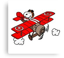 Snoopy Flying  Canvas Print