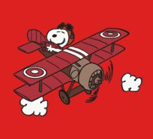 Snoopy Flying  One Piece - Long Sleeve