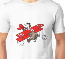 Snoopy Flying  Unisex T-Shirt