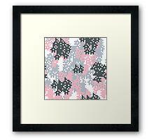 Pink Pixel Camouflage Framed Print