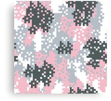 Pink Pixel Camouflage Canvas Print