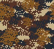 Pixel Brown Camouflage by ARTPICSS