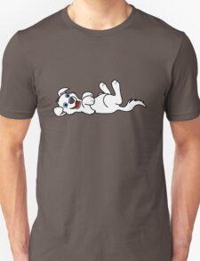 White Dog - Roll Over Unisex T-Shirt