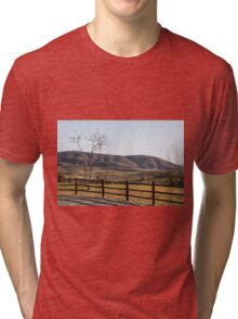 Fence Tree Mountain Tri-blend T-Shirt