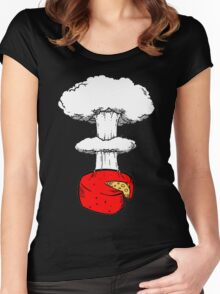 Atomic Cheese graphic Women's Fitted Scoop T-Shirt