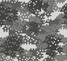 Pixel Grey and White Urban Camouflage by ARTPICSS