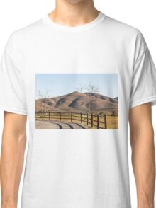 Two Trees, a Fence, and a Mountain Classic T-Shirt