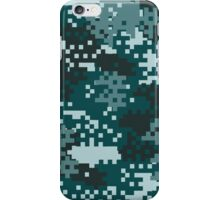 Turquoise Pixel Camouflage iPhone Case/Skin