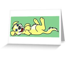 Yellow Dog with Blaze - Roll Over Greeting Card