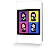 Tie Girl Kim Squared Greeting Card