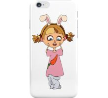 Funny bunny girl iPhone Case/Skin