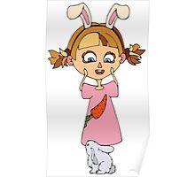Funny bunny girl Poster