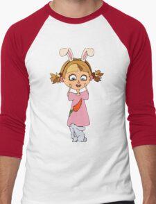 Funny bunny girl Men's Baseball ¾ T-Shirt