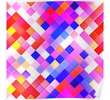 Abstract Geometric Square Pattern Poster