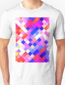 Abstract Geometric Square Pattern T-Shirt