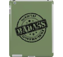 Official Government Badass graphic iPad Case/Skin
