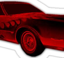 FLAMED 1974 LINCOLN CONTINENTAL MARK IV RED  Sticker