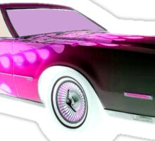 FLAMED 1974 LINCOLN CONTINENTAL MARK IV PINK Sticker