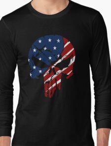 American Skull Long Sleeve T-Shirt