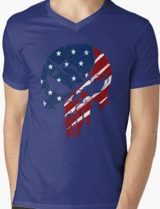 American Skull Mens V-Neck T-Shirt