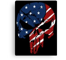 American Skull Canvas Print