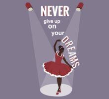 Ballerina Dream Graphic (Peach) Kids Tee