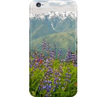 Olympic Mountain Wildflowers iPhone Case/Skin