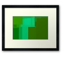 Green Bars and Junk Framed Print