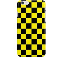 Checkered Black and Yellow iPhone Case/Skin