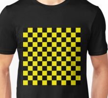 Checkered Black and Yellow Unisex T-Shirt