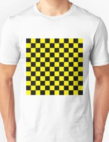 Checkered Black and Yellow T-Shirt