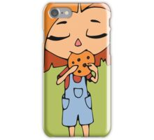 Girl with cookie iPhone Case/Skin