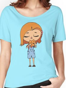 Girl with cookie Women's Relaxed Fit T-Shirt