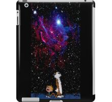 calvin and hobbes pink galaxy iPad Case/Skin