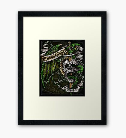 Dragon Slayer Elite Crest Framed Print