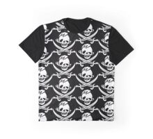 Sloth Pirate Flag Graphic T-Shirt