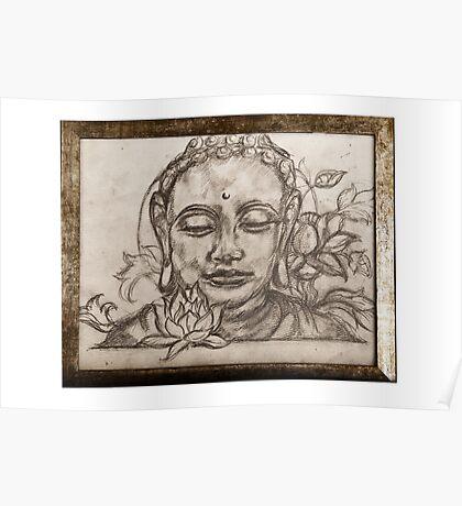 Lotus Sutra Sketch Framed Poster
