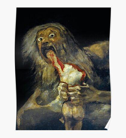 Goya, Saturn devouring his son Poster