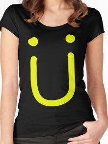 JACK Ü SMILEY Women's Fitted Scoop T-Shirt
