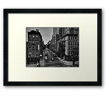 Manhattan - Chelsea 002 BW Framed Print
