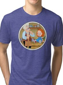 The Puppeteer and his doll  Tri-blend T-Shirt
