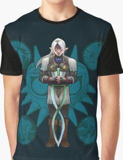 Fierce Deity Art Nouveau Link - Majora's Mask Graphic T-Shirt